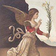 SALE 'Annunciation Angel ' Italian  Museum Postcard