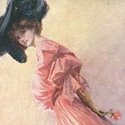 Early English Tuck's Artist Edwardian Costume Postcard