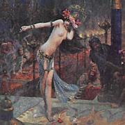 SALE French Signed 'Salome' Salon de Paris Artist Postcard