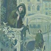 SALE Austrian Composer Schumann Venice Song Postcard.