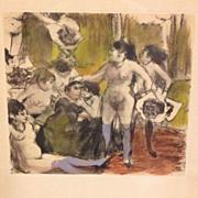 Edgar Degas Limited Edition 422/500 French Monotype Etching La Fete de la Patronnne 1948.