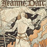 SOLD Original Antique Limited Edition Theatre Poster 'Jeanne D'Arc' Sarah Bernhardt Les Affich
