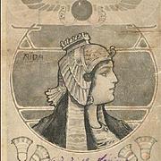 Art Nouveau Opera Aida Hungarian Postcard 1903