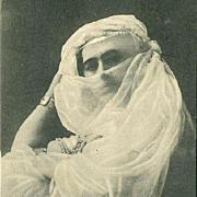 SOLD On HOLD for Melissa: Four Vintage and Antique Real Photo Harem Postcards.