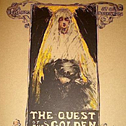 SALE Original French Limited Ed. Art Nouveau Signed Lithograph 'Quest for the Golden Girl' Les