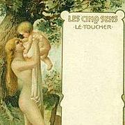 SALE Antique Polish issue 'Les Cinq Sens' Five Senses Postcard c1900.