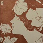 SALE Signed Wood Engraving 'The Rose' from Studio Magazine 1916
