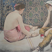 SOLD ON HOLD for Rebecca:Original French Signed Limited Edition Lithograph 'Joueuses D'Osselet