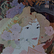 SALE Art Nouveau Original French Typogravure 'Femme Fleurs' from Figaro Illustre 1900.