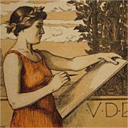 SALE Original Signed Art Nouveau French Lithograph 'VDBKiB' 1897