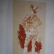 Significant Original French 'Harlequin' Les Maitres de L'Affiche Lithograph by Jules Cheret ..