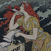 SALE Original French Lithograph 'Encre L. Marquet' from Les Affiches Illustrees series 1896 ..