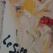 Original French Les Maitres de L'Affiche 'Le Sillon' Lithograph Art Nouveau era 1897.