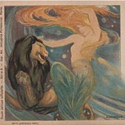 Art Nouveau Paris Exposition Horoscope Lithographic Postcard 1900.