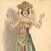 Art Deco Italian Signed Costume Postcard