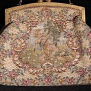 SALE Unique  Art Deco French Tapestry Cupids Evening Purse/Bag.