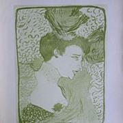 SALE Toulouse-Lautrec Lithograph ~Portrait of an Actress~Limited Edition 1927