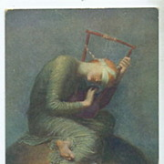SOLD English Postcard 'Hope' by Watts.