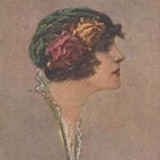 Corbella Beautiful Woman Postcard 1916 Signed.