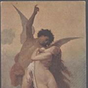 SALE Italian Artist Angel & Nude Postcard  'Psyche and Cupid'