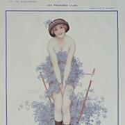 SALE Original Art Deco French Magazine Illustration..signed Kirchner..Gorgeous!