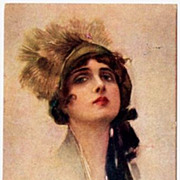 SALE Art Deco Italian Signed Postcard by Corbella..1918.