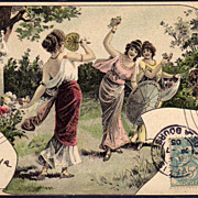 SALE French Art Nouveau UB Vienne Postcard 1905.