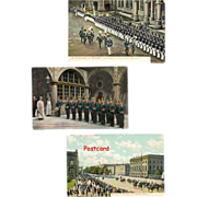 SOLD Berlin Military Parade and Two Dresden Regimental Inspections, Germany Circa 1910