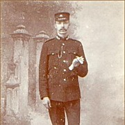 Early Cabinet Photo of a British Policeman