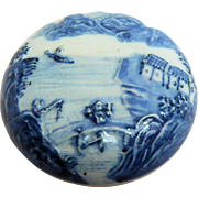 SALE Chinese Blue and White Seal Paste Ink Pot