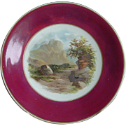 SALE Hand Painted Plate: Eagle Crag: Powell & Bishop: 1876-8