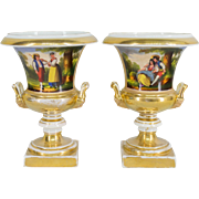 Pair of Sevres Porcelain Urns