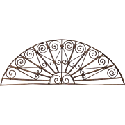 SOLD 19th c. Wrought Iron Window Grate