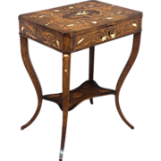 19th c. Italian Inlaid Side Table