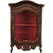 19th Louis XV Style Provençal Verrio or Display Cabinet