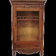 18th. C. Louis XV Verrio or Display cabinet