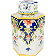 19th c. French Faience Desvres Jar