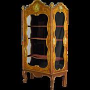 19th c. Venetian Painted Vitrine or Display Cabinet