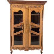 18th c. French Louis XV Armoire or Display Cabinet