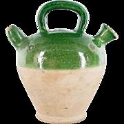 French 19th Terra-cotta Glazed Vinaigrier