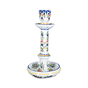 French Candle Stick Faience, Desvres