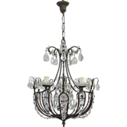 19th Century Italian 5 Light Chandelier