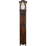 French Louis XV Style Walnut Tall Case Clock