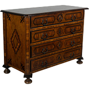18th Century Italian Marquetry Commode or Secretaire