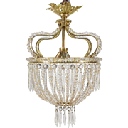 French Crystal Ceiling Chandelier