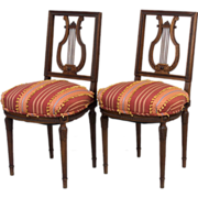 Pair of Louis XVI Style Parlor Chairs