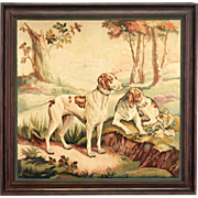 Large 19th Century Aubusson Tapestry Signed Bordovael
