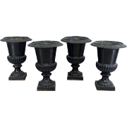 Set of 4 19th c. French Garden Urns
