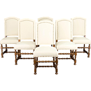 Set of 6 French Louis XIII style Chairs