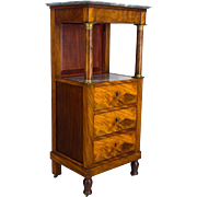 French Empire Tall Stand or Cabinet